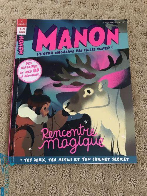 Manon, l'extra magazine des filles super - décembre 2018