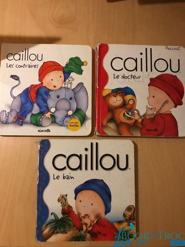 """3 livres cartonnés """"Caillou"""" Le docteur / Le bain / Les contraires"""
